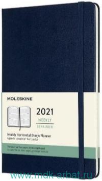 Еженедельник 2021 130х210мм 72 листа «Classic» синий : Арт.428989 (ТМ Moleskine)