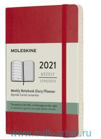 Еженедельник 2021 «Classic», формат А6 72л., мягкий, цвет красный : Арт.484929 (ТМ Moleskine)