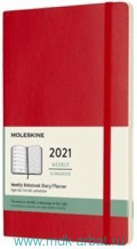 Ежедневник 2021 А5 200 листов «Classic», на резинке, цв. красный : Арт.384928 (ТМ Moleskine)