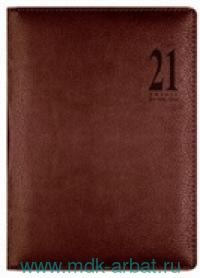Ежедневник А5 2021 «Milano» искусственная кожа, цвет темно-коричневый : Арт.1051111 (ТМ Letts )