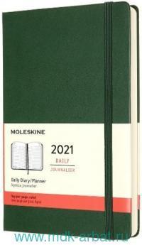 Ежедневник 2021 А5 200 листов «Classic» твердая обложка, зеленый : Арт.1369004 (ТМ Moleskine)