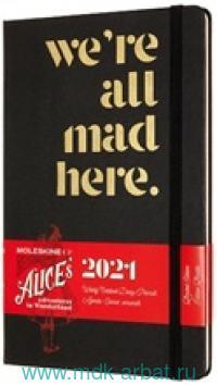 Ежедневник 2021 А5 200 листов «Alice» на резинке, цв. черный : Арт.1369116 (ТМ Moleskine)