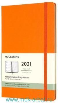 Ежедневник 2021 А6 200 листов «Classic» твердая обложка, оранжевый : Арт.1369039 (ТМ Moleskine)