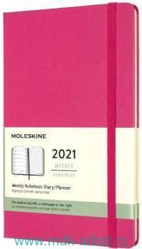 Еженедельник 2021 А6 72 листа «Classic» твердая обложка, фуксия : Арт.1369025 (ТМ Moleskine)