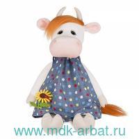Игрушка мягкая «Корова Глаша в платье, с цветочком» : высота 28см :Арт.MT-MRT022011-28 (ТМ Maxitoys)