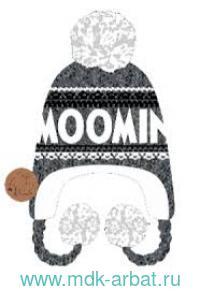 Шапка зимняя с помпоном серая Арт.MOOMIN14B (ТМ «Moomin»)