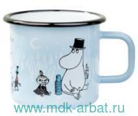 Кружка 370 мл. «День на льду» эмалированная : Арт.1702-037-63 (ТМ Moomin)