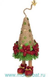 Набор «Новогодняя ёлочка на ножках с пуансеттией» : Арт. ШФ-12 (ТМ Волшебная мастерская)