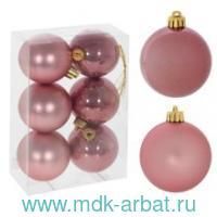 Шары 6 штук, цвет розовый : Арт.753627 (ТМ Ремеко-Центр)