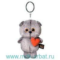 Брелок «Кот Басик с сердечком» : размер 12см, материал - искусственный мех, текстиль : Арт.АВВ-012 (ТМ BUDIBASA)