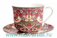 Пара чайная 370 мл «Jumbo. Strawberry» фарфор, в индивидуальной упаковке : Арт.B0940-A07023R (ТМ Коралл)