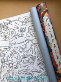 Раскраска-плакат 58х90см «Морская» тубус : Арт.MRS001 (ТМ Каракули)