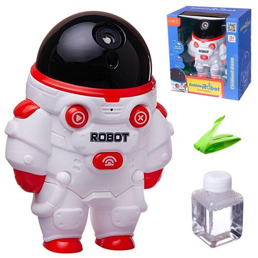 Пузыри мыльные «Робот-астронавт» свет, звук, цвет в ассортименте : Арт.Wb-01281 (ТМ JUNFA)
