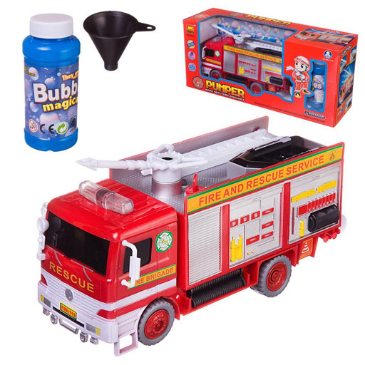 Пузыри мыльные «Пожарная машина» свет, звук, цвет в ассортименте : Арт.WB-A9828 (ТМ JUNFA)