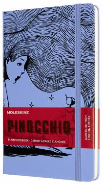 Книга для записей : А5, 120 листов, нелинованная «Pinocchio» фиолетовая : Арт.1526165 (ТМ Moleskine)