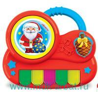 Дед Мороз : пианино с огоньками : музыкальная развивающая игрушка : 15 песенок и мелодий