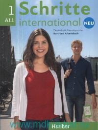 Schritte International Neu 1 : Kursbuch + Arbeitsbuch : Niveau A 1.1 : Online