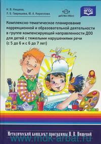 Комплексно-тематическое планирование коррекционной и образовательной деятельности в группе компенсирующей направленности ДОО для детей с тяжелыми нарушениями речи (с 5 до 6 и с 6 до 7 лет) (ФГОС)