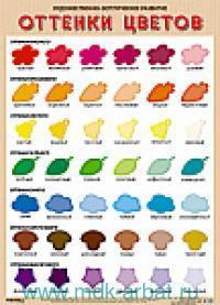 Оттенки цветов : плакат : художественно-эстетическое развитие