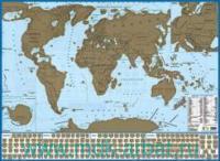 Карта мира с флагами (со стираемым слоем) : артикул 712п