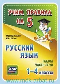 Русский язык. Глагол. Части речи : 1-4-й классы : таблица-плакат (ФГОС)