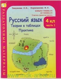 Русский язык : 4-й класс : теория в таблицах, практика : раздаточные материалы : дидактические материалы : в 2 ч.