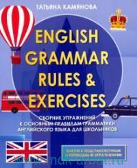 English Grammar Rules & Execises : сборник упражнений к основным правилам грамматики английского языка для школьников