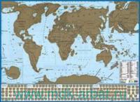 Карта мира с флагами (со стираемым слоем) : М 1:58 000 000: артикул 712п