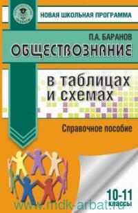 Обществознание в таблицах и схемах : 10-11-й классы