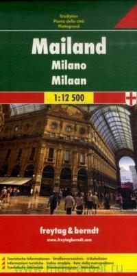 Mailand = Milano = Milaan = Milan : Stadtplan : М 1:12 500