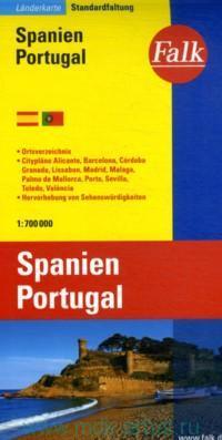 Spanien. Portugal : Landerkarte. Standardfaltung  = Espana. Portugal = Spain, Portugal : Country Map : М 1:700 000