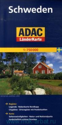 Schweden : ADAC LanderKarte : 1:750000