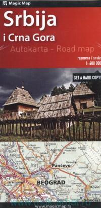 Srbija i Crna Gora : Autokarta : М 1:600 000