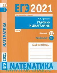ЕГЭ 2021. Математика. Графики и диаграммы : задача 2 (профильный уровень), задача 11 (базовый уровень) : рабочая тетрадь (ФГОС)