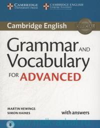 Cambridge English Grammar Vocabulary for Advanced : With Answers : Downloadable Audio and Online Resources