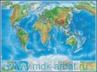 Мир : физическая карта : М 1:22 000 000 : артикул КН35