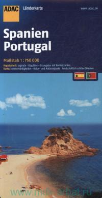 Spanien. Portugal : Landerkarte : М 1:750 000