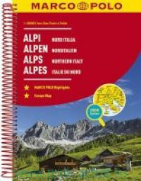 Alpi. Nord Italia = Alpen. Norditalien = Alps. Northern Italy = Alpes. Italie du Nord : M 1:300000