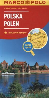 Polska = Polen : Map : M 1:800 000