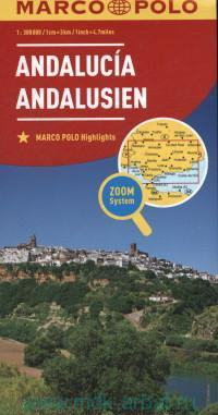 Andalusia = Andalousien : М 1 : 300 000
