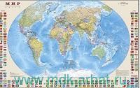 Мир : политическая карта с флагами : М 1:30 000 000 : артикул 749