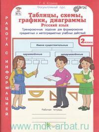 Таблицы, схемы, графики, диаграммы : Русский язык. Математика. Окружающий мир : тренировочные задания  : рабочая тетрадь для 2-го класса : в 3 ч. (ФГОС)
