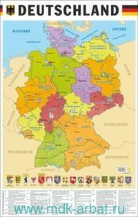 Deutschland = Карта Германии на немецком языке